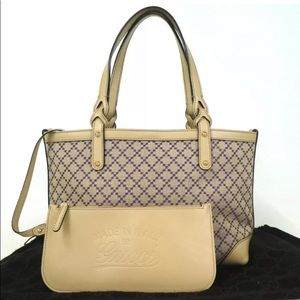 Authentic GUCCI With pouch Diamante Tote Bag